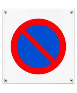 Kunststof pictogrambord geen toegang 200x200mm