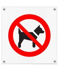 Kunststof pictogrambord honden verboden