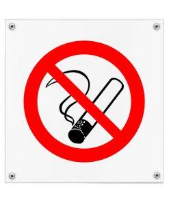 Kunststof pictogrambord roken verboden 200x200mm
