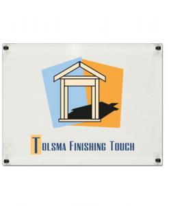 Plexiglas Bedrijfsbord met logo 420x297mm A3