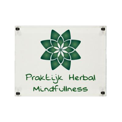 Plexiglas bedrijfsbord praktijk 210x148mm A5