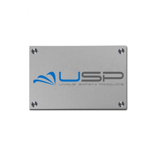 Aluminium Bedrijfsnaambord met logo 210x148mm A5