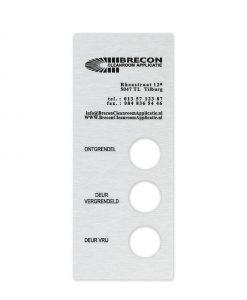 RVS machine naamplaat